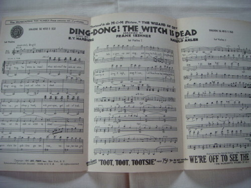 wizard of oz orchestral score ding dong the witch is dead