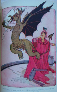 Glinda and the Griffin from The Marvelous Land of Oz Book