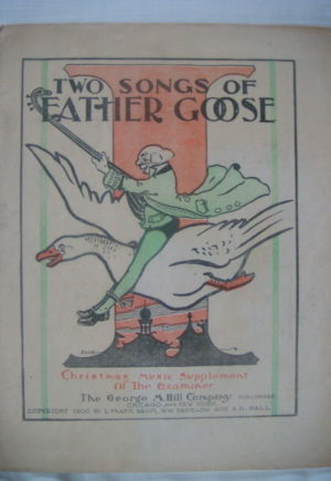 Two Songs of Father Goose Denslow 1900
