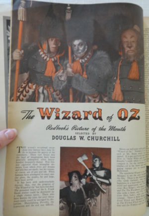 Wizard of Oz Movie Redbook 1939 magazine