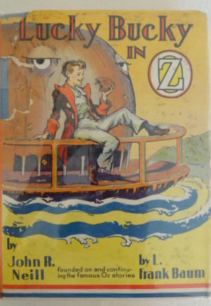 Lucky Bucky in Oz book dust jacket john r neill