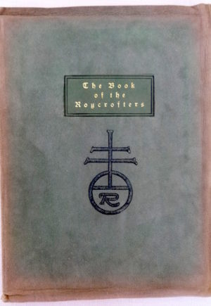 Roycroft Catalog 1902 Book of The Roycrofters Orb and Cross Suede