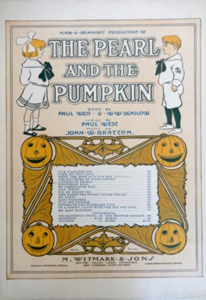 Pearl and the Pumpkin Sheet Music 1905 W W Denslow