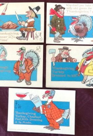 W W Denslow Thanksgiving Postcards