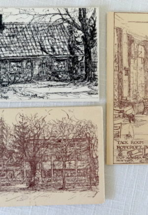 Roycroft Inn Line Art Postcards Vintage