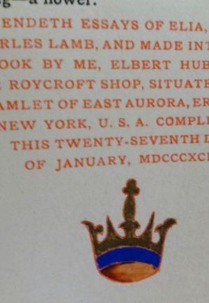Essays of Elia Denslow Roycroft Book