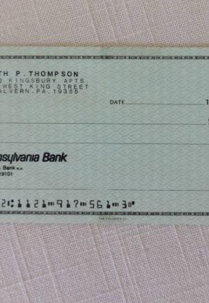 Ruth Plumly Thompson Personal Check Wizard of Oz