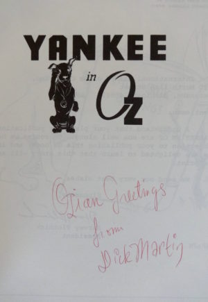 Yankee in Oz Signed Dick Martin
