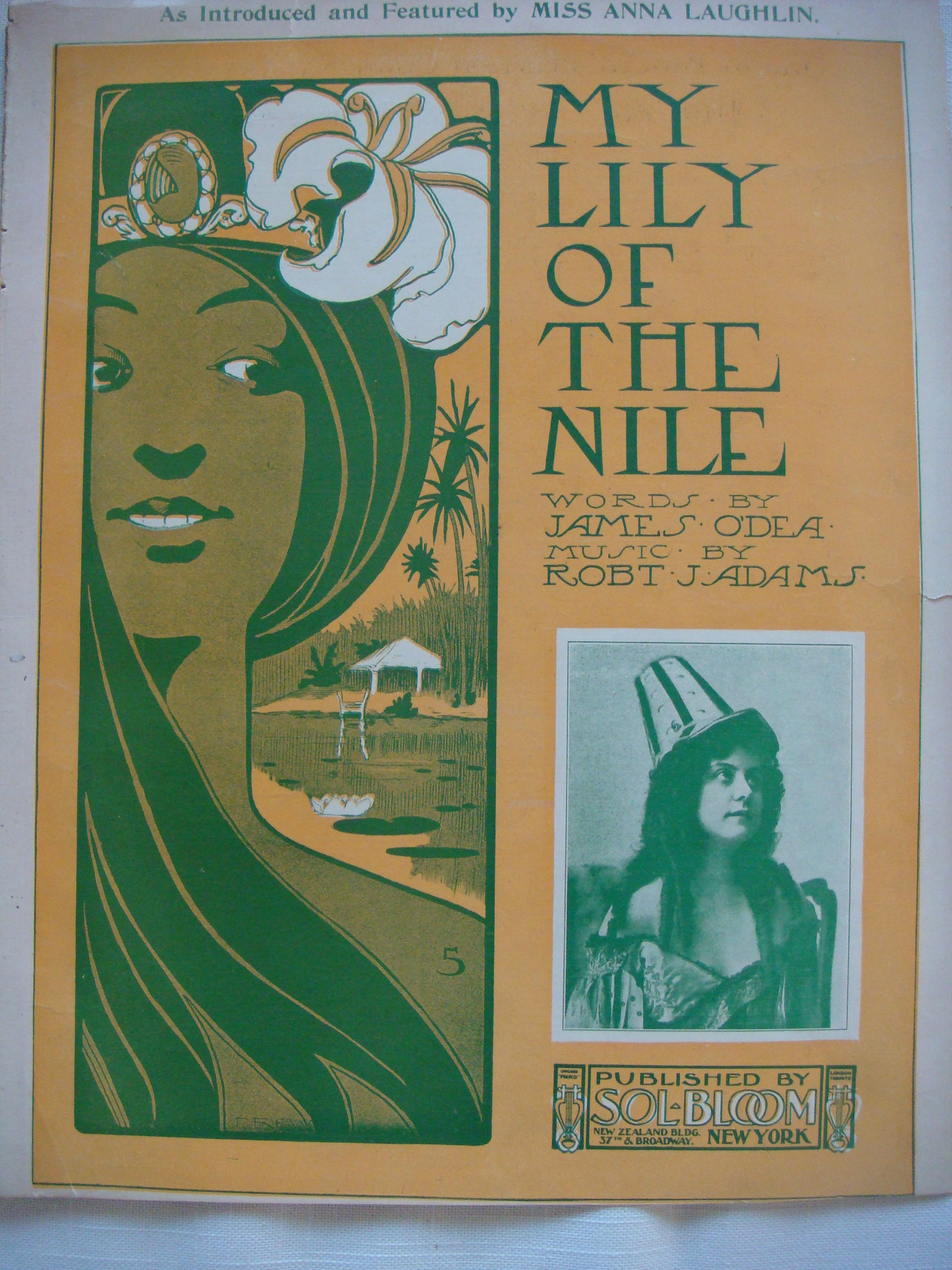 MY LILY OF THE NILE Anna Laughlin Sammy Wizard Of Oz Sheet Music 1902