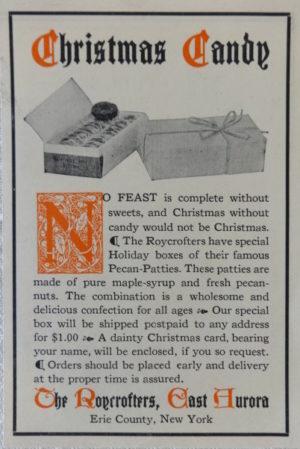 Roycroft Christmas Candy Ad
