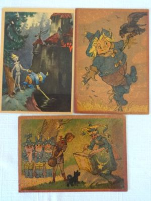 Russian Postcards Wizard of Oz Volkov