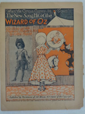 wizard of oz sheet music