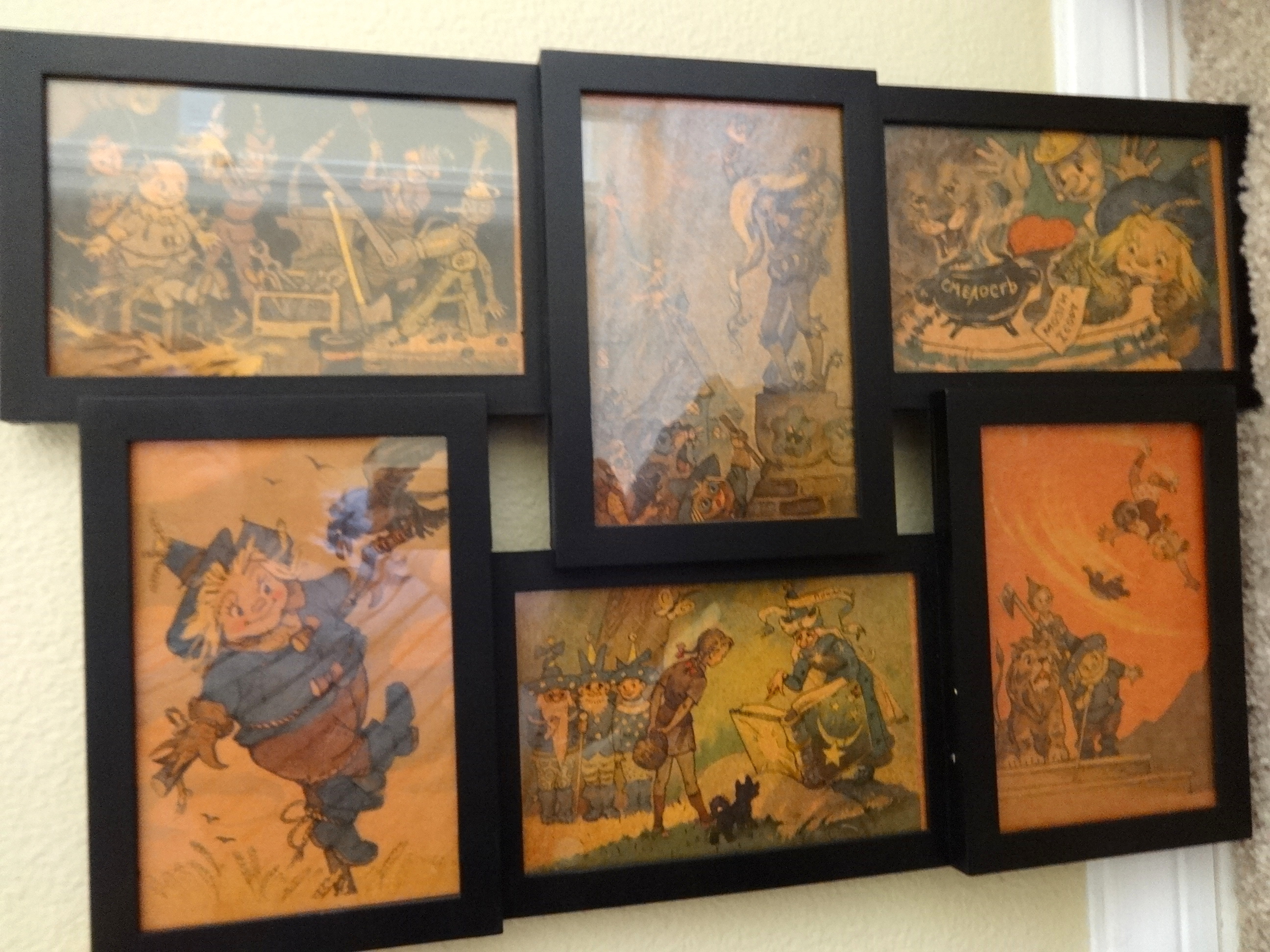 Sale: Russian Wizard of Oz Framed Postcard Collage–Volkov ...