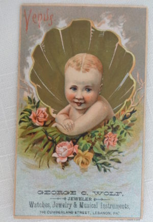 W W Denslow Trade card venus