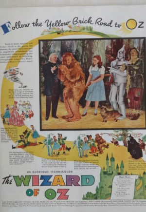 1939 Wizard of Oz Movie Ad