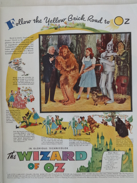 Sale Woman S Home Companion 1939 Wizard Of Oz Mgm Movie Ad Lion S