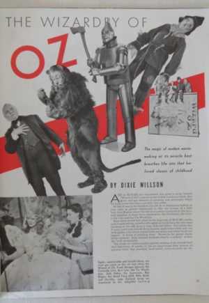 1939 Photoplay Wizard of Oz Magazine