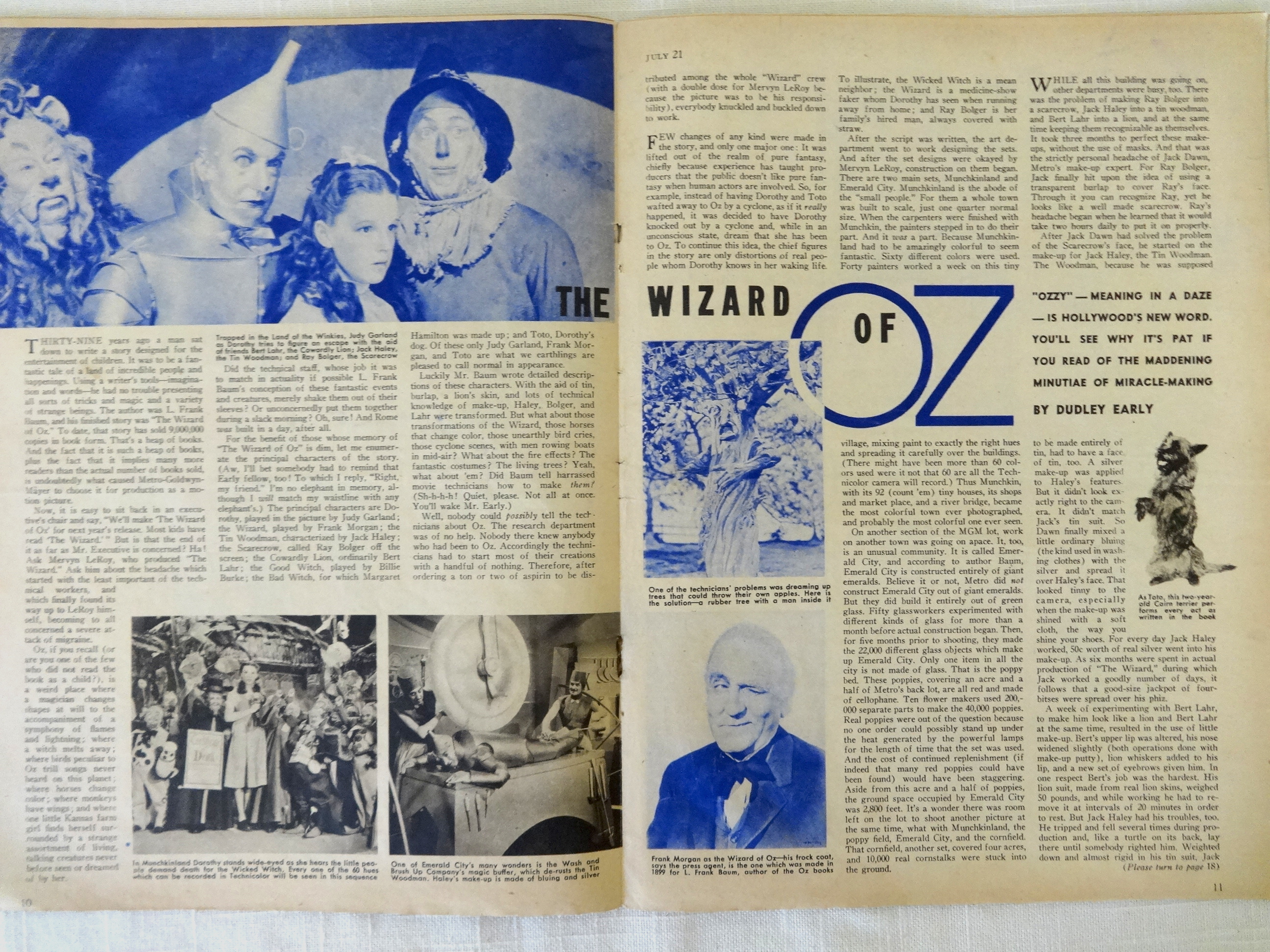 Sale: WIZARD OF OZ Movie Family Circle 1939 Magazine Set