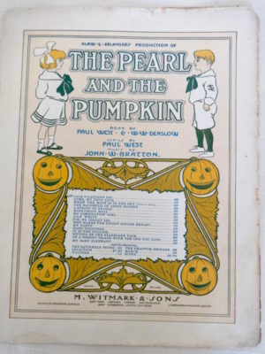 Pearl and the Pumpkin Sheet Music 1905