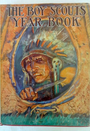 Boy Scouts Year book Neill 1929 Dust jacket
