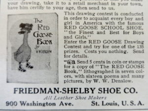 Red Goose Shoes Book Ad W W Denslow