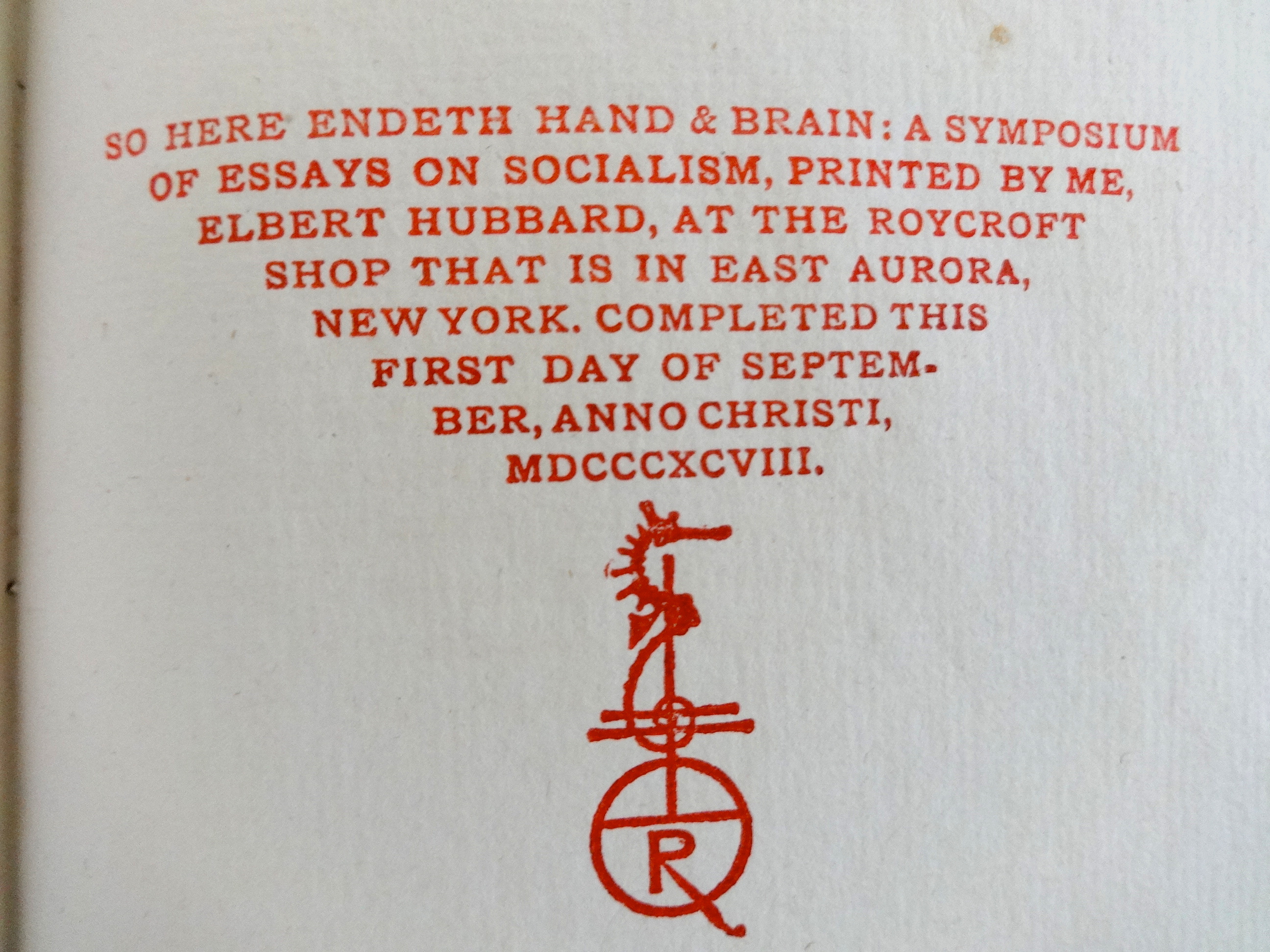 hand and brain roycroft book denslow seahorse logotype