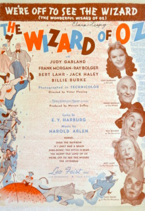 Off to See the Wizard of Oz Sheet Music 1939