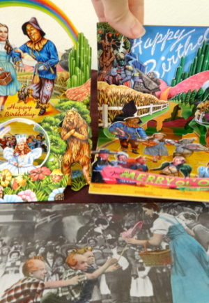 Wizard of oz card popup 3d birthday
