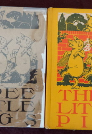 Three Little Pigs Book Dust Jacket John R Neill