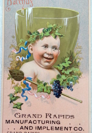bacchus trade card w w denslow wizard of oz