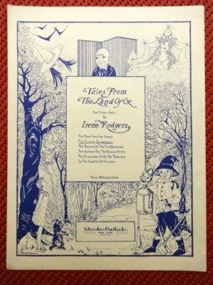 tales from the land of oz sheet music scarecrow