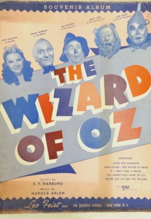 Wizard of Oz Souvenir Album 1939 Sheet Music