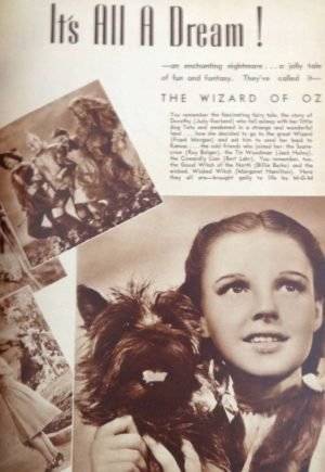 Movie Mirror 1939 Wizard of Oz Article MGM