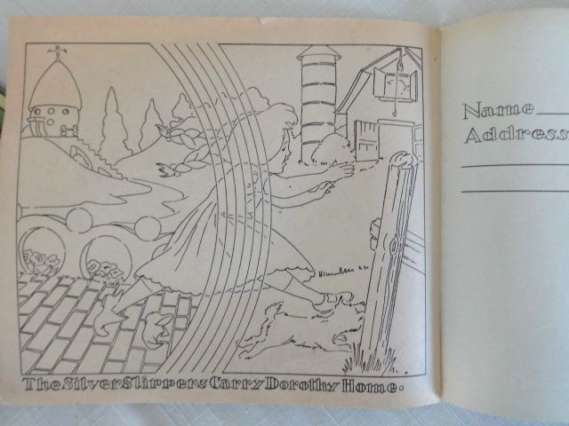 SWIFTs Peanut Butter Wizard of Oz Coloring Book 1955 Promotional