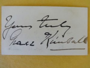 Grace Kimball Autograph Wizard of Oz