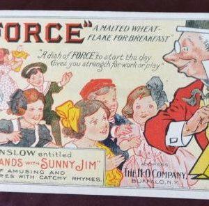 Force Flakes Sunny Jim Denslow Blotter