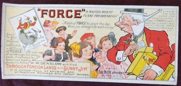 Force Flakes Sunny Jim Denslow Blotter
