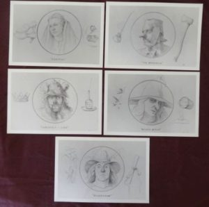 Charles Gilbert Kapsner, art, wizard of oz, cards