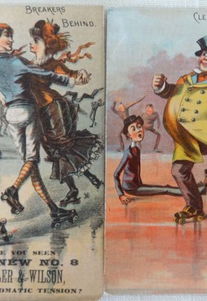 w w Denslow Skating Trade Cards