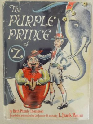 Purple Prince of oz Dick Martin dust jacket