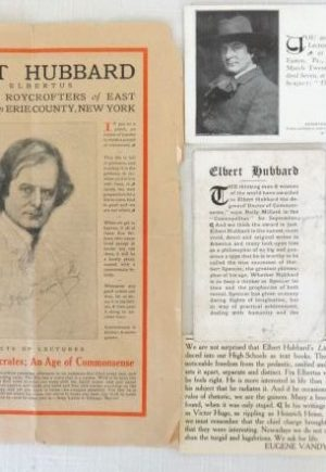 Elbert Hubbard Lecture Speaking Ephemera