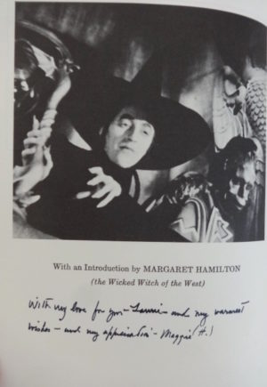 Making of Wizard of Oz Book Margaret Hamilton Signed