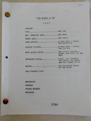 Wizard of Oz Script Screenplay 1939