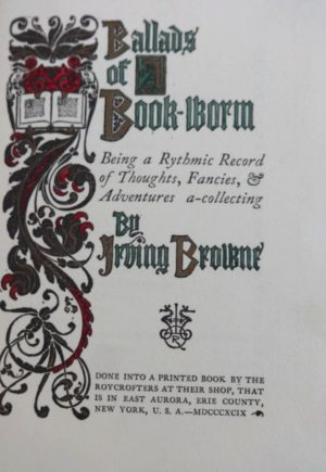 Ballads of a Bookworm Denslow Roycroft Book