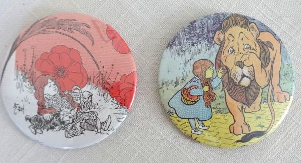 W W Denslow Wizard of Oz Buttons
