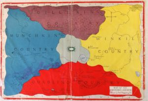 1920 Wizard of Oz Map Reilly and Lee