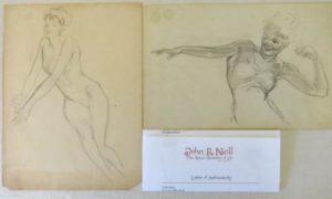 John E Neill Original Art Nude