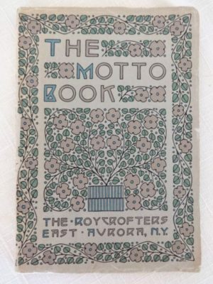 Motto Book Dard Hunter Roycroft Book