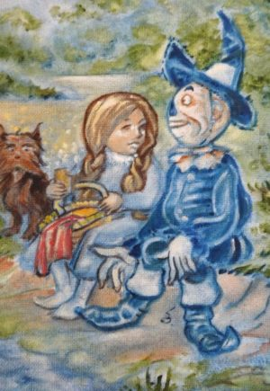 Vincent Myrand Original Wizard of Oz Painting