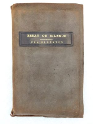 Essay on Silence Roycroft book